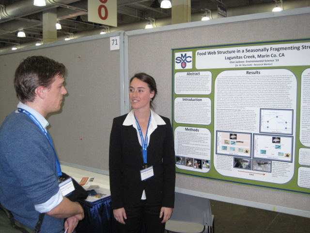 Eliot Jackson with her poster presentation at the AAAS meeting in Boston held during Feburary 2013.