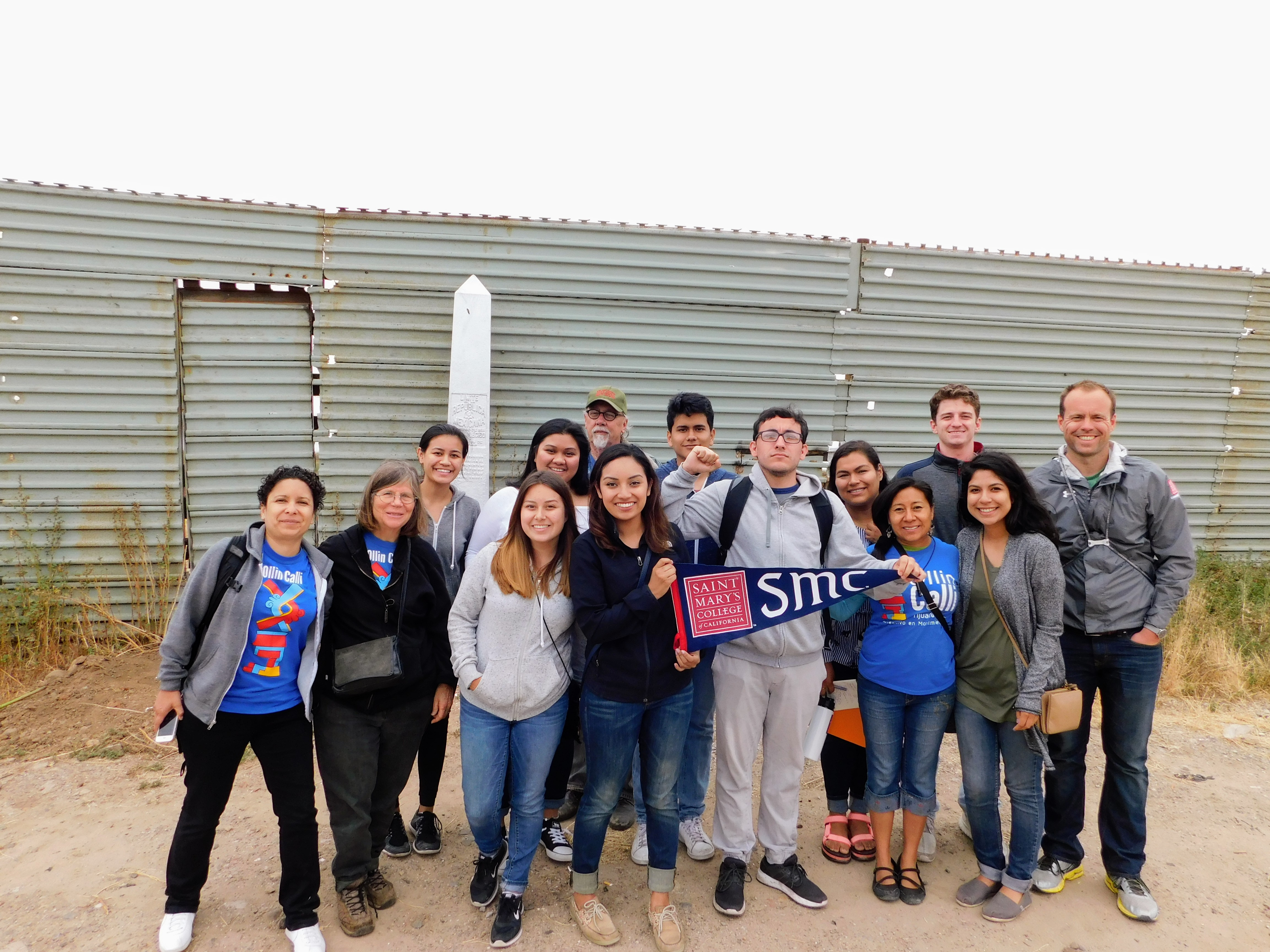 <p>Gaels exploring issues surrounding maquiladoras with Ollin Calli</p>