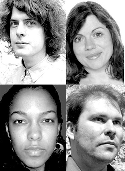 Quad photo of Poets Stephen Connolly, khy D'Arcy, Raina Léon and Stephen Sexton.