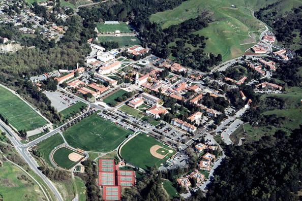 arial view of campus